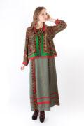 коротена двусторонняя и платье в русском стиле