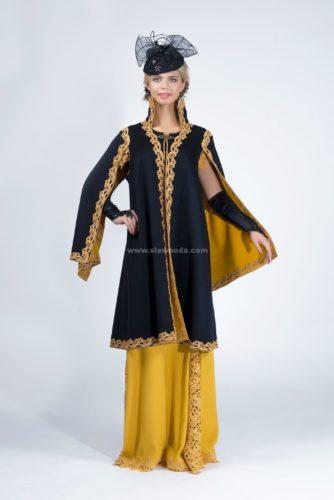 Пальто в русском стиле «княжеское» из роскошного кашемира.