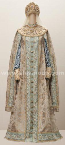 женский боярский костюм
