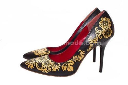 туфли классические с ручной росписью