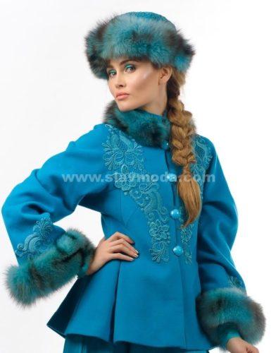Шапка в русском стиле меховая