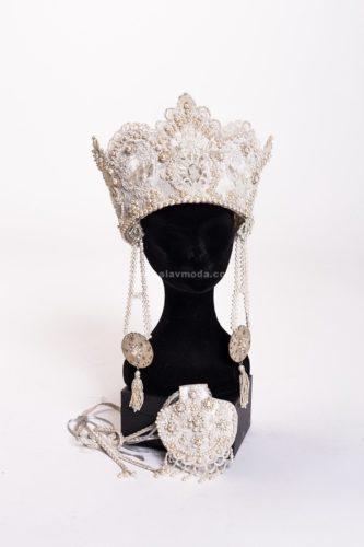 Коруна - свадебный головной убор Анастасии Аверьяновой