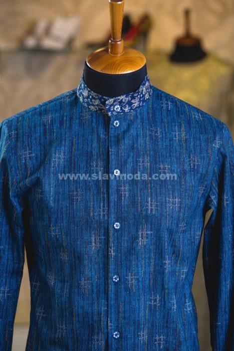 мужская рубашка с элементами русского стиля