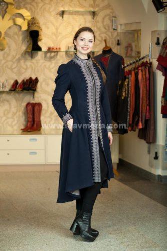 Пальто в русском стиле