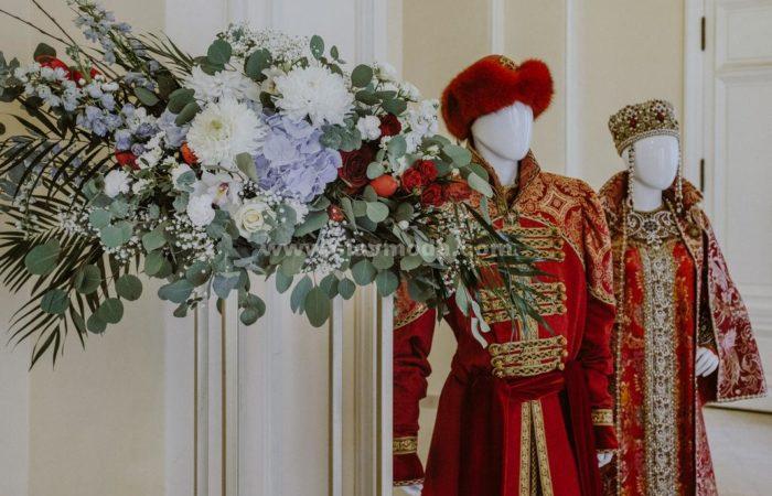 Оформление русского пира ко Дню празднования 40-летия Общины