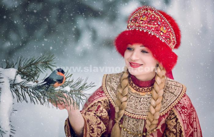 Красота русского костюма. Зимняя сказка